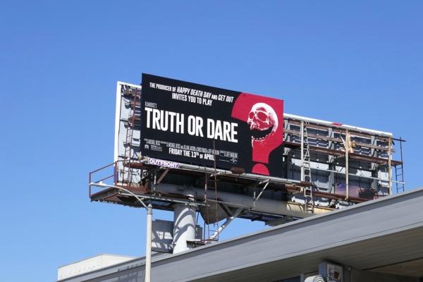 Truth or Dare film billboard