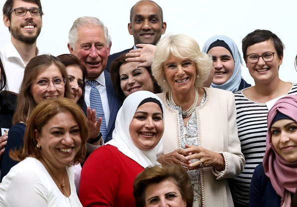 Prince Charles and Duchess of Cornwall visited the International Rescue Committee at the Impact Hub