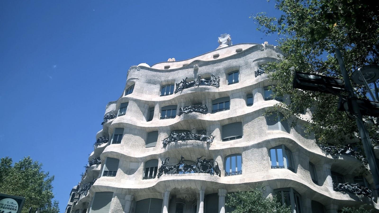 Casa Mila (aka La Pedrera) A building by Antoni Gaudi