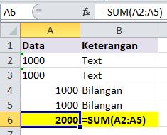 Cara membedakan angka dengan text