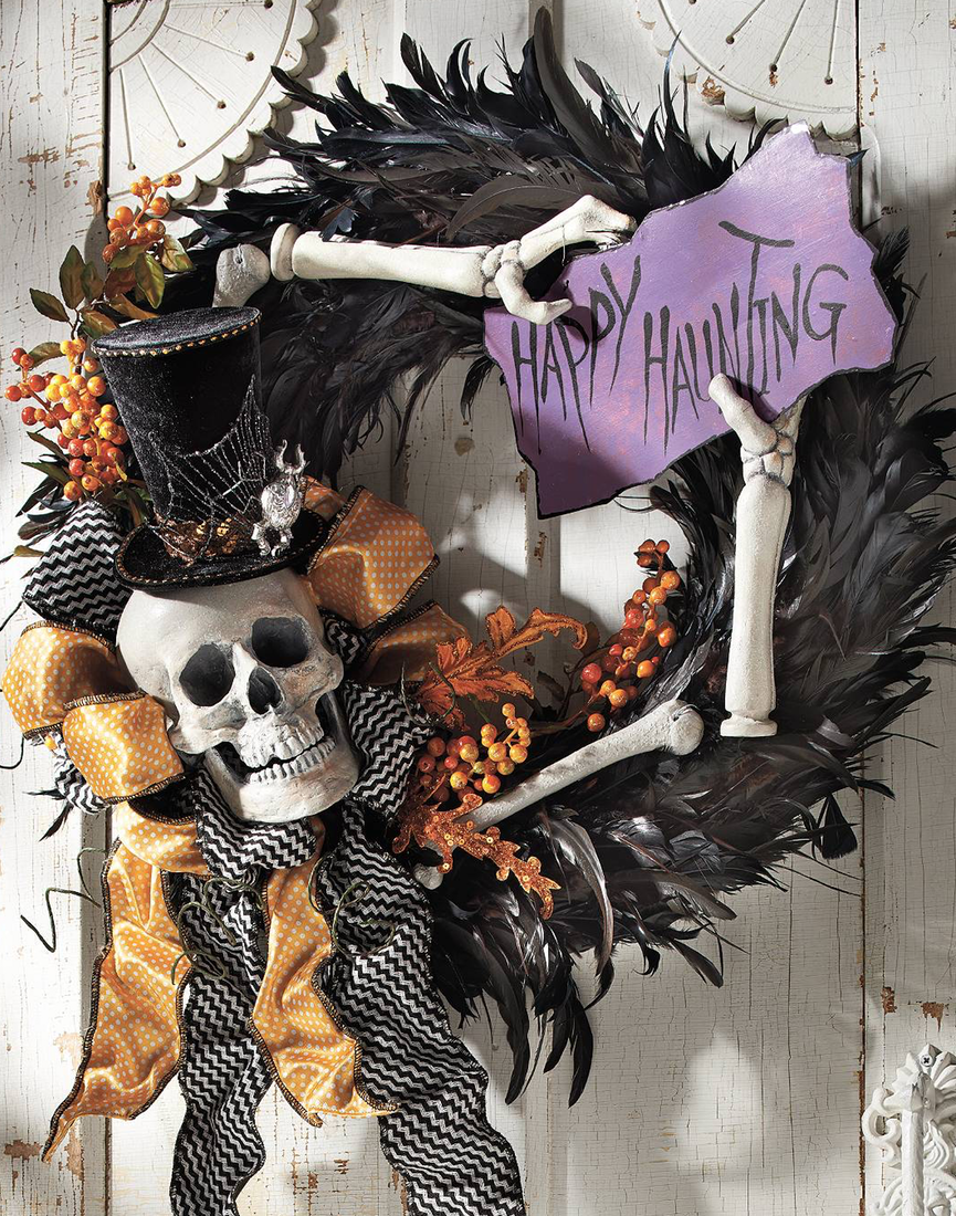 Grandin Road Happy Hauntings Wreath