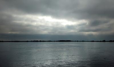 Foto del río Paraná, frente a Rosario.