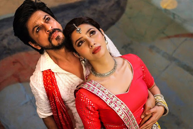 Mahira Khan in Raees, with SRK in Udi Udi Jaye