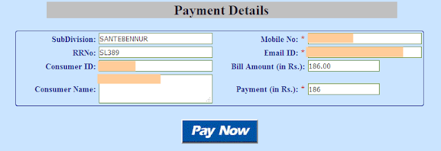 bangalore electricity bill payment