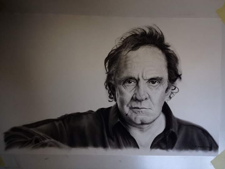 09-Johnny-Cash-Ivan-Kobilšek-Pencil-Portrait-www-designstack-co