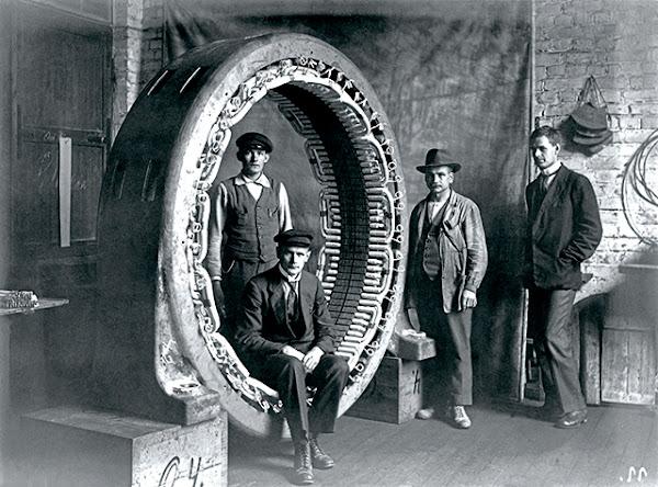 1922年ASEA研發人員攝於芬蘭赫爾辛基馬達廠