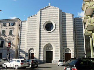 The Abbey Church of Santa Maria Assunta, built from Carrara marble, is one of La Spezia's attractions