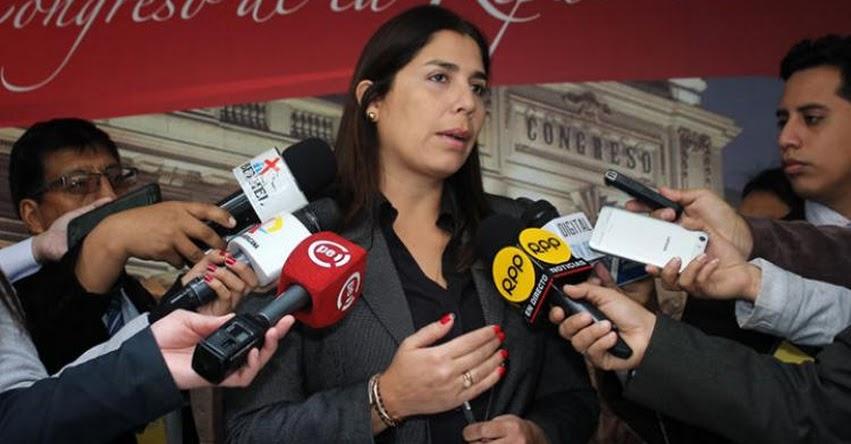 Bancada del Fujimorismo no descarta apoyar una eventual censura contra la Ministra de Educación, Marilú Martens