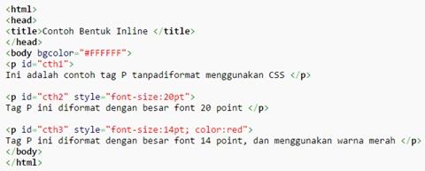 Pengertian dari CSS, Fungsi CSS Beserta Contoh nya 3