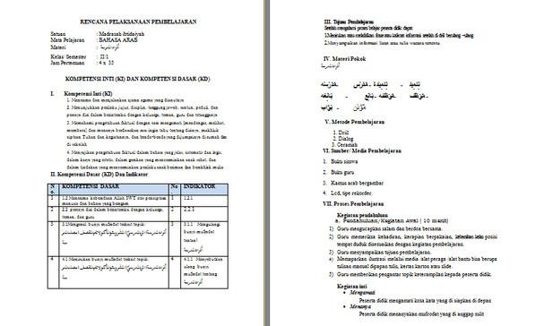 Silabus RPP Revisi 2017 Bahasa Arab MI Kelas 2 Kurikulum 2013