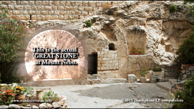 The Real GREAT STONE at the tomb.