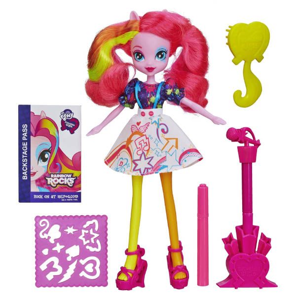Equestria Girls Rainbow Rocks Pinkie Pie Doll With Markers