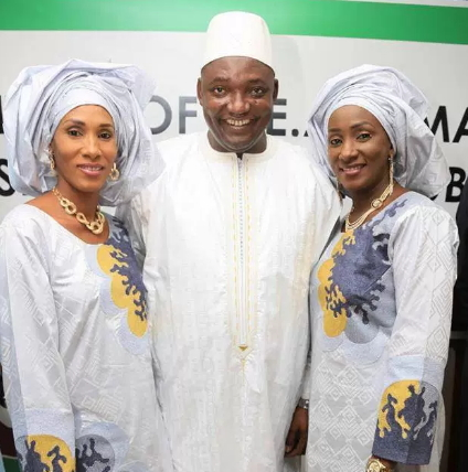 adama barrow two wives