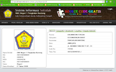 Download Gratis Source Code Sistem Informasi Sekolah Berbasi Web PHP + MySQL