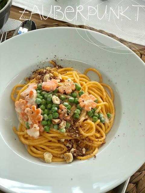 Karotten-Erbsen-Frischkäsesauce, regional, saisonal, FoodblogsSchweiz, FoodblogchallengeMärz,