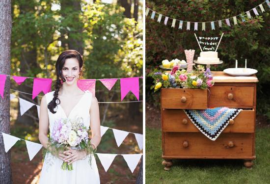 wedding backdrops, bunting flags , decorazioni matrimonio