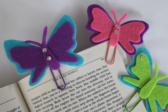 DIY Felt Butterfly Bookmarks