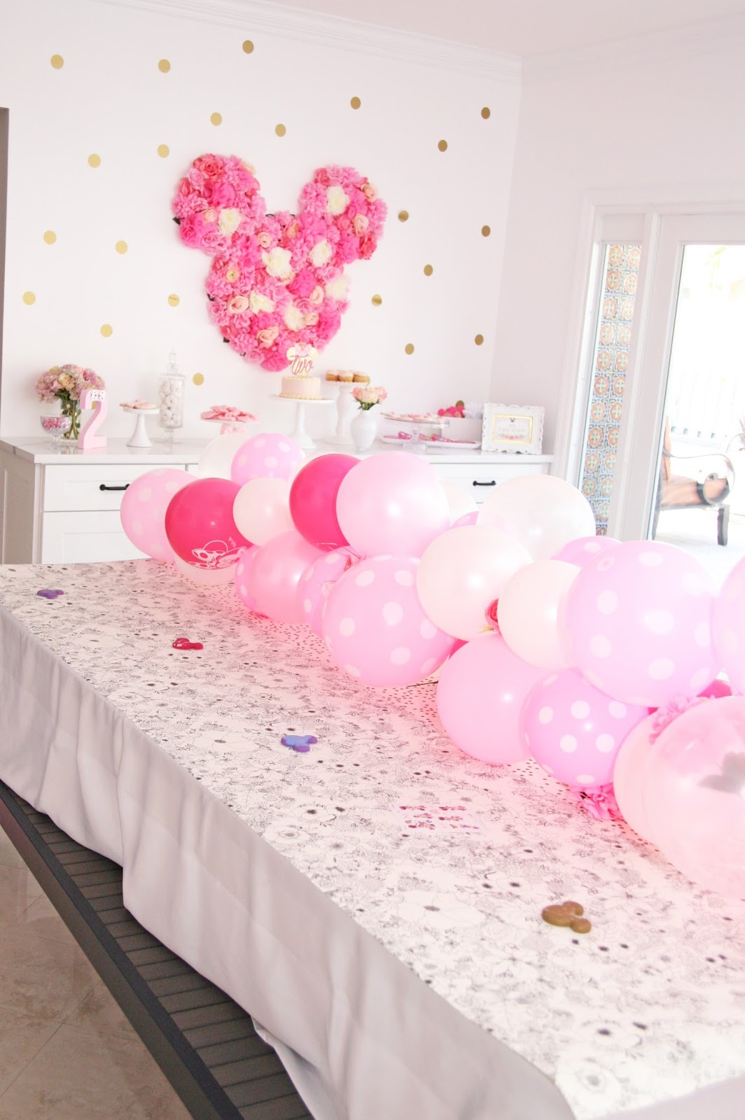 Floral Minnie Mouse Birthday Party Celebration Stylist
