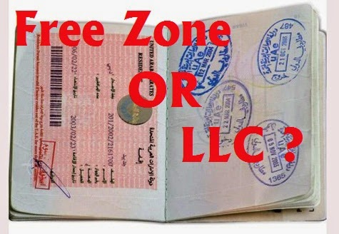 Comparison & Benefits b/w Free Zones and LLC Visa - UAE LABOURS