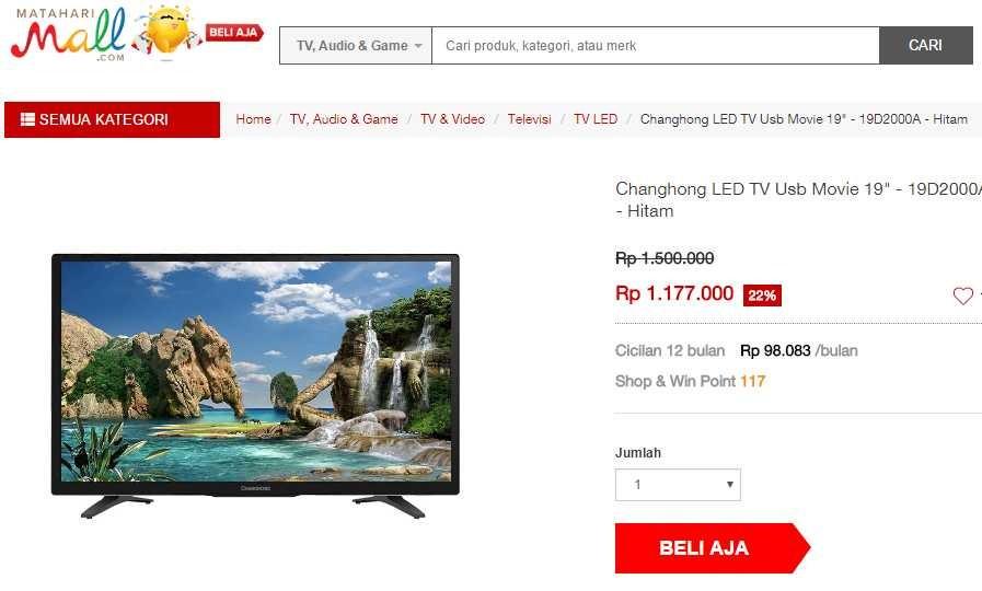 Harga Tv Led Termurah Hanya Rp 98 083 Blog Yati