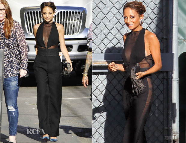 492189dac19b Nicole Richie in a part sheer jumpsuit by Emilio Pucci! I think she looks  stunning! I love her hair pulled back and the enormous statement ...