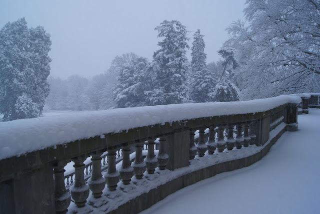 Snowy Scene Paris