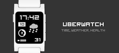 Uberwatch - dPwatchface - watchface for Pebble 2
