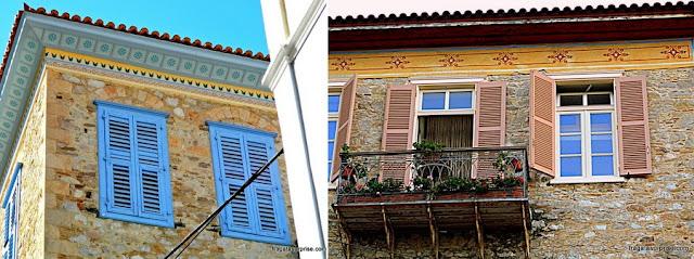 Casarões neoclássicos típicos de Nafplio, Grécia