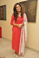 Anasuya Bharadwaj in Red at Kalamandir Foundation 7th anniversary Celebrations ~  Actress Galleries 040.JPG