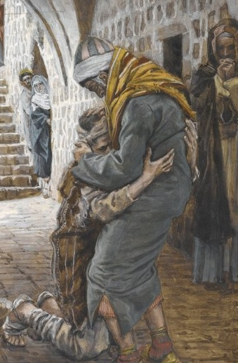 Artist James Tissot's painting of 'The Return of the Prodigal Son.'