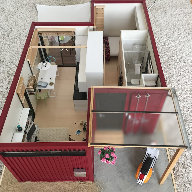 Tiny Scale Shipping Container House | 17 Cool Container Homes To Inspire Your Own