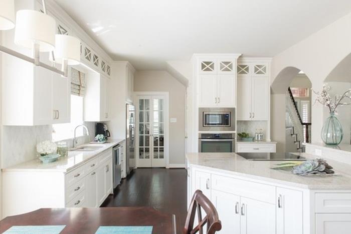 full beyaz mutfak dekorasyonu