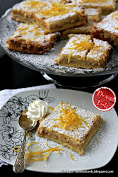 Sweet slices ​​with almonds and lemon cream