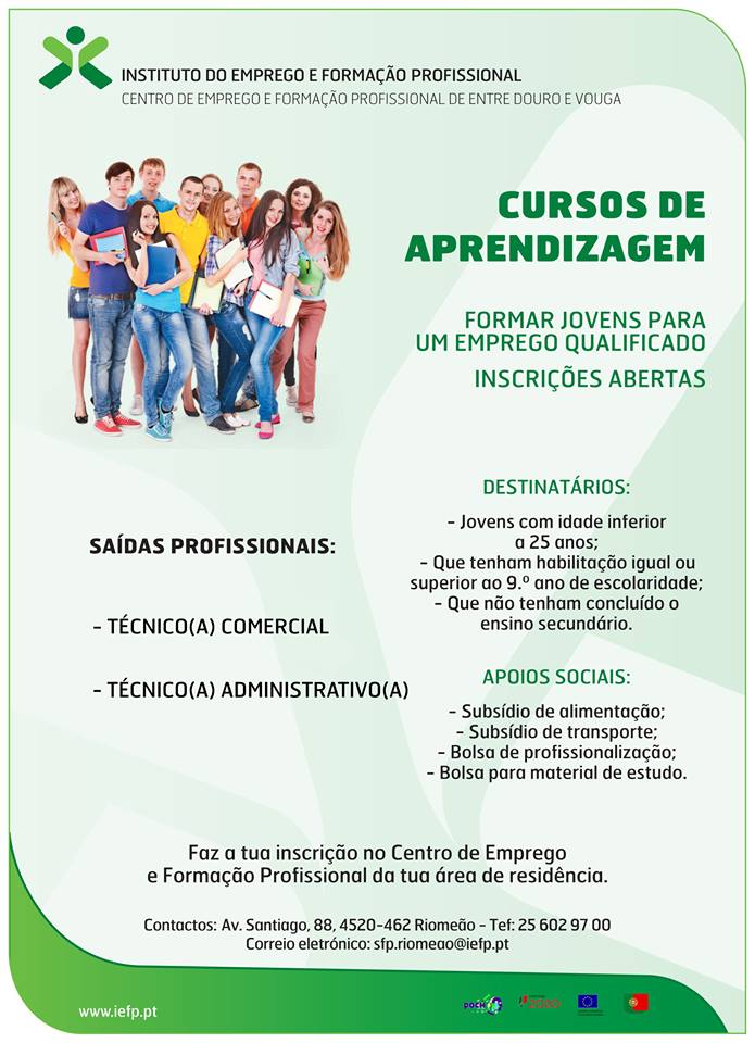 Cursos de aprendizagem em Rio Meão