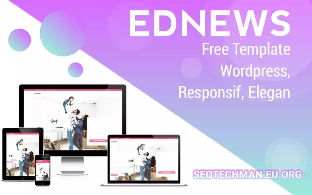 Download Template Wordpress Ednews, Gratis, Responsif dan SEO Friendly