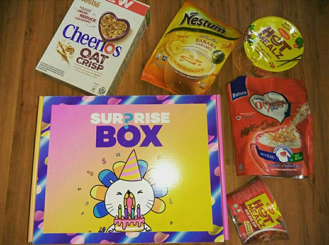 surprise box dari lazada, lazada suprise box, lazada 5th anniversary sale, lazada malaysia, lazada.com.my