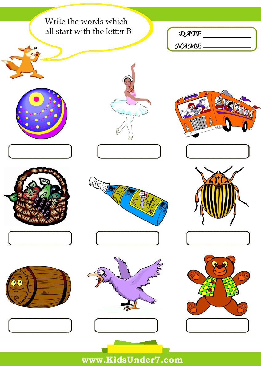 words that begin with the letter b learning for kid words that start with k 25717