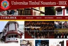Info Pendaftaran Mahasiswa Baru ( UTIRA-IBEK ) Universitas Timbul Nusantara 2017-2018