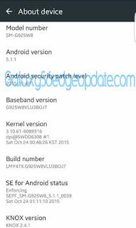 GalaxyS6edgeUpdate: Canada Galaxy S6 G920W8 OTA Update