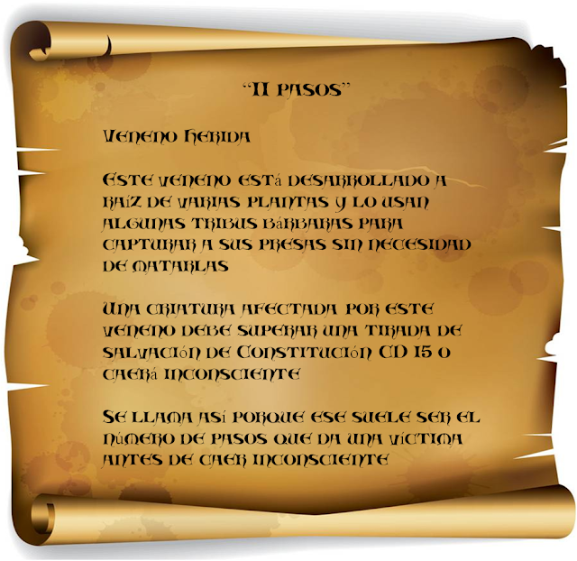 Aventura para Dungeons & Dragons - El Libro de las Almas - Veneno 11 pasos