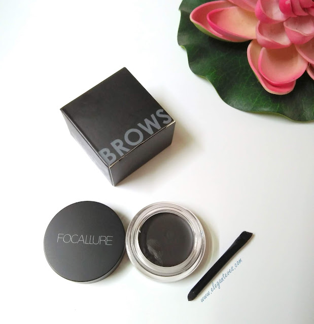 Focallure Brows Cream 02 Chocolate Review Swatches Before/After