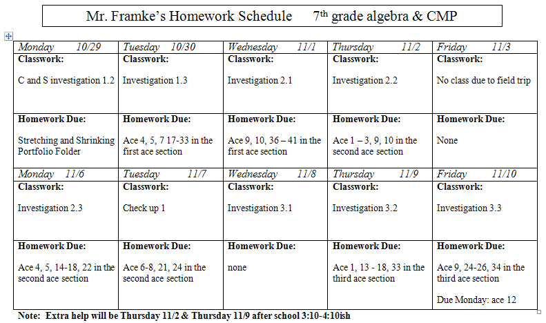 7th grade math homework help online