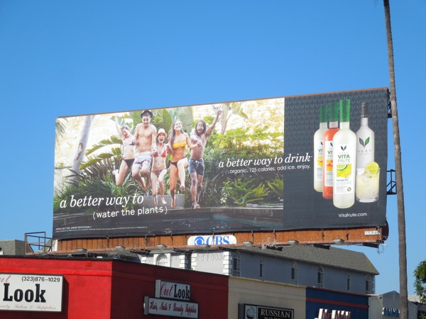 Veev Vita Frute better way to water plants billboard