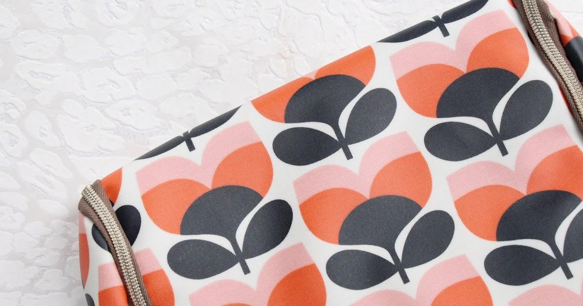 Orla Kiely Flower Stripe Hanging Wash Bag Hannah Heartss