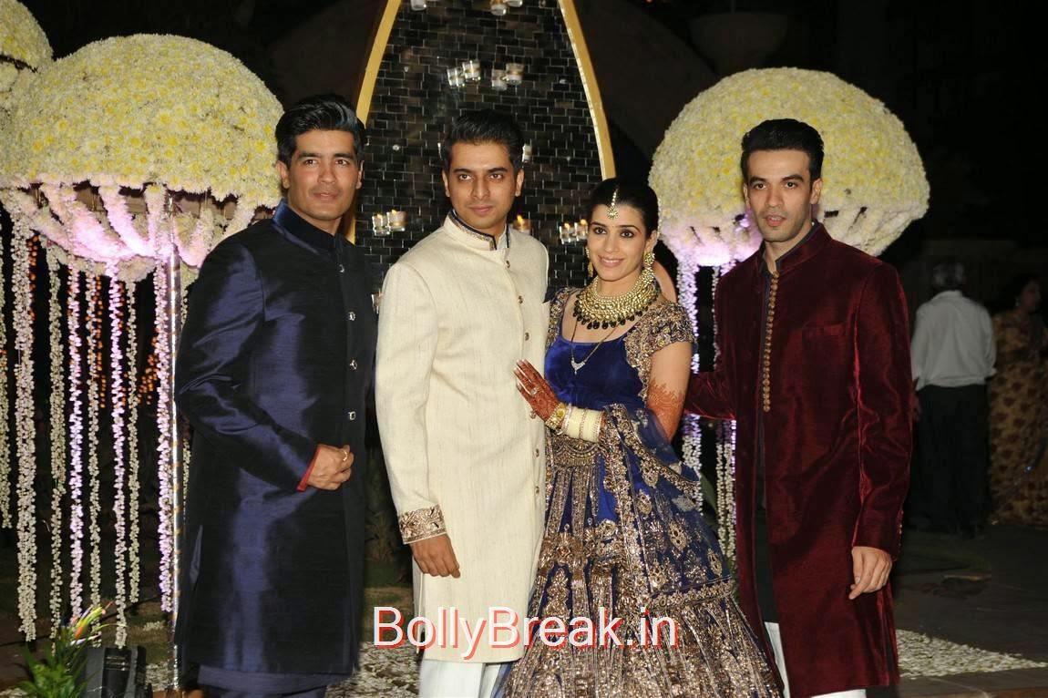 Rekha, Karishma Kapoor, Urmila Matondkar, Kriti Sanon, Sophie Choudry At Riddhi Malhotra Wedding Reception