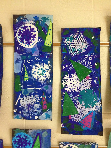 ' Happening In Art Room 5th Grade Winter Collages