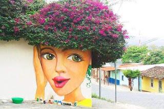 Kolaborasi Seni Mural Dan Tumbuhan Yang CANTIK !!!