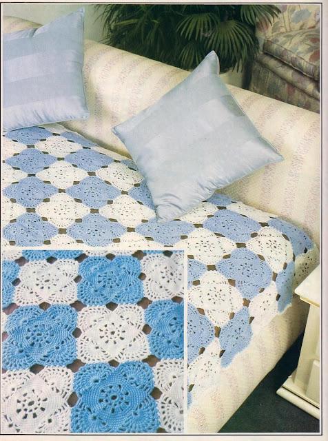 Crochet Bedspread Ee Pattern Crochetribart