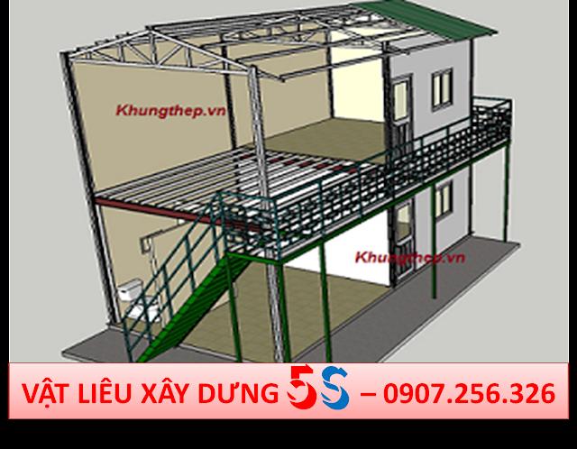 xây nhà thép tiền chế bằng tấm xi măng 3d