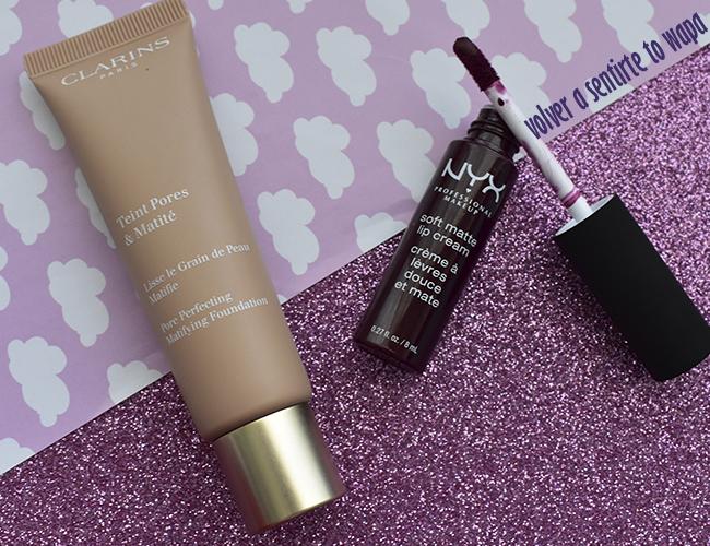 Maquillaje antiporos de Clarins y Labios Mates Granates de Nyx
